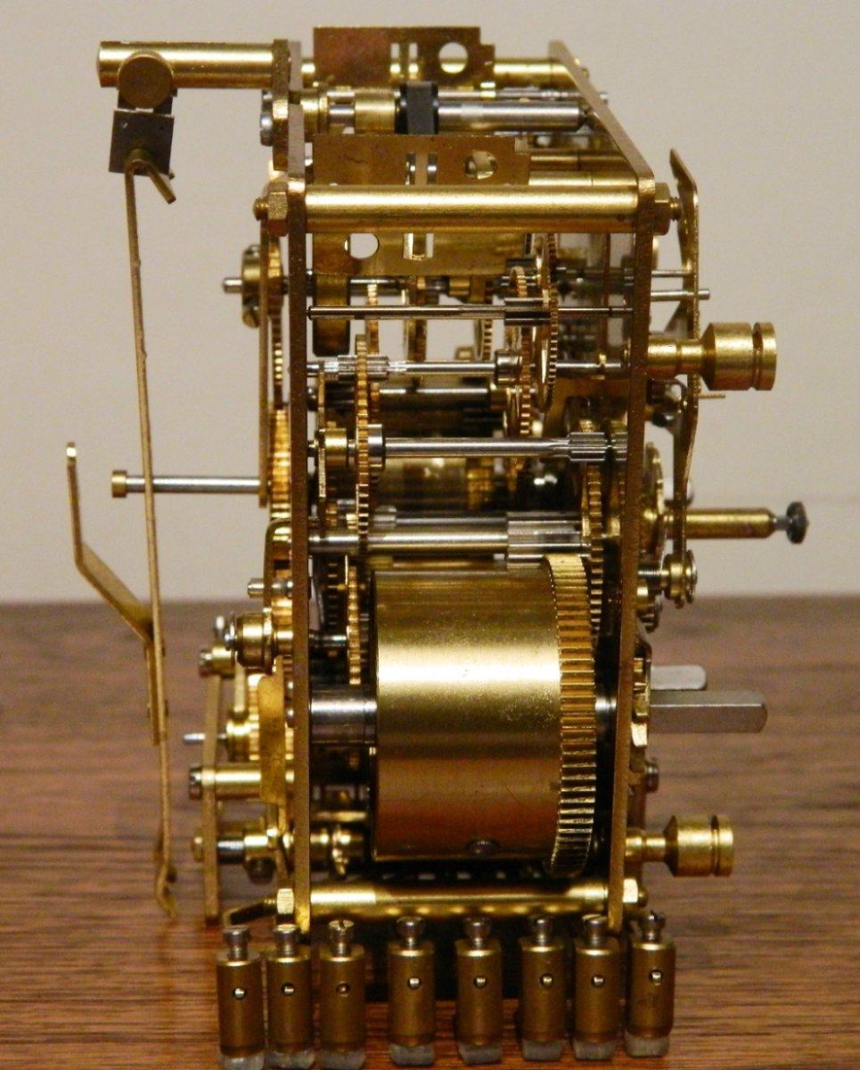 Maquina reloj de pendulo kienninger j1204 alemana - Mecanismos de reloj de pared ...
