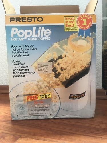 máquina retro para hacer palomitas de maíz presto potlite