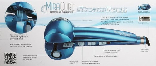 máquina rizadora babyliss pro nano miracurl azul