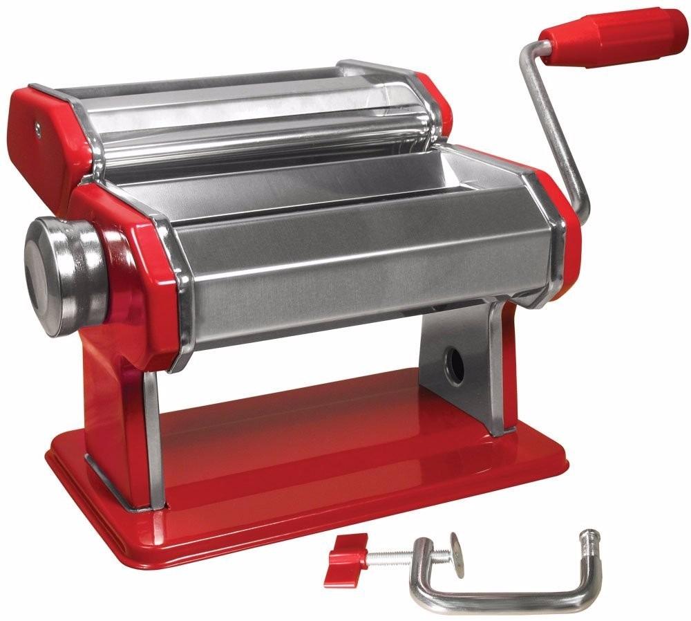 Maquina roja para hacer pasta fresca libro de recetas - Maquina para hacer pastas caseras ...