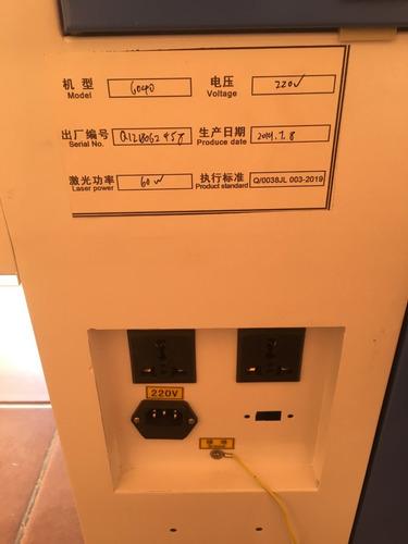 maquina router laser corte e gravação co2 6040 60x40cm 60w