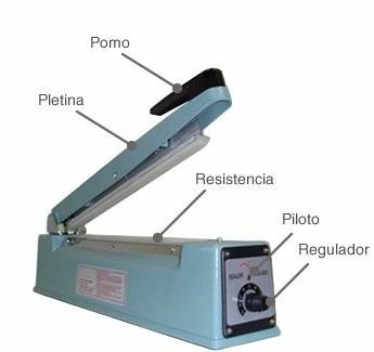 maquina selladora de bolsas plasticas 25cm/300w nueva