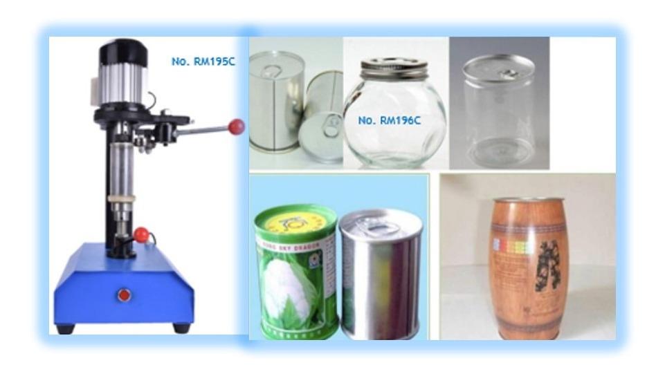 Máquina selladora de lata manual pet, plástico, cartón, etc.