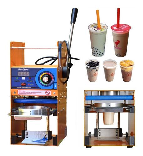 maquina selladora vasos manual jugos helado cholado cafe