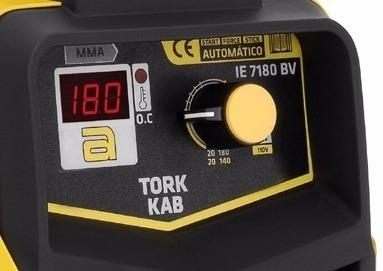 maquina solda inversora 180a bivolt aut kab180 7180 tork