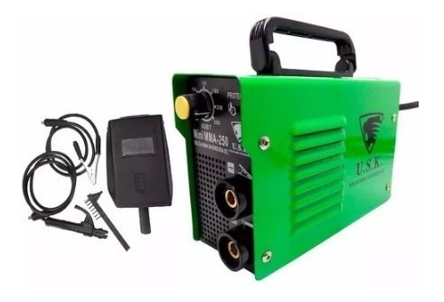 máquina solda inversora 250 amperes 220v mini mma 220v usk