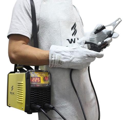 maquina solda inversora wk 225a 220v - tig eletrodo alumínio