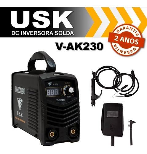 maquina solda usk mascara inversora digital mma 230 220v