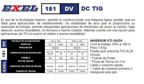 maquina soldadora exel 181 dv  inversor
