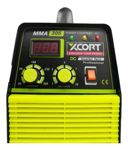 máquina soldar mma 305 amp inverter + máscara + guantes