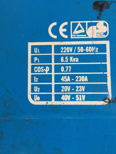 maquina soldar power ptpro w230