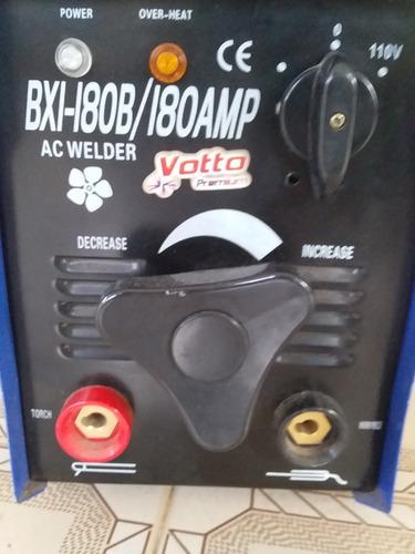 maquina soldar votto 180 amp/110v+pinzas+careta+carrucha