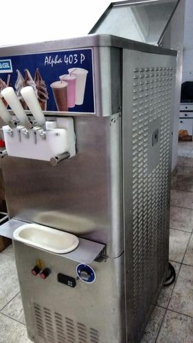 maquina sorvete 3 bicos com bombas, trifassica 403p