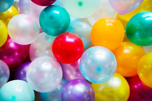 máquina suelta lluvia de globos decoración fiestas eventos