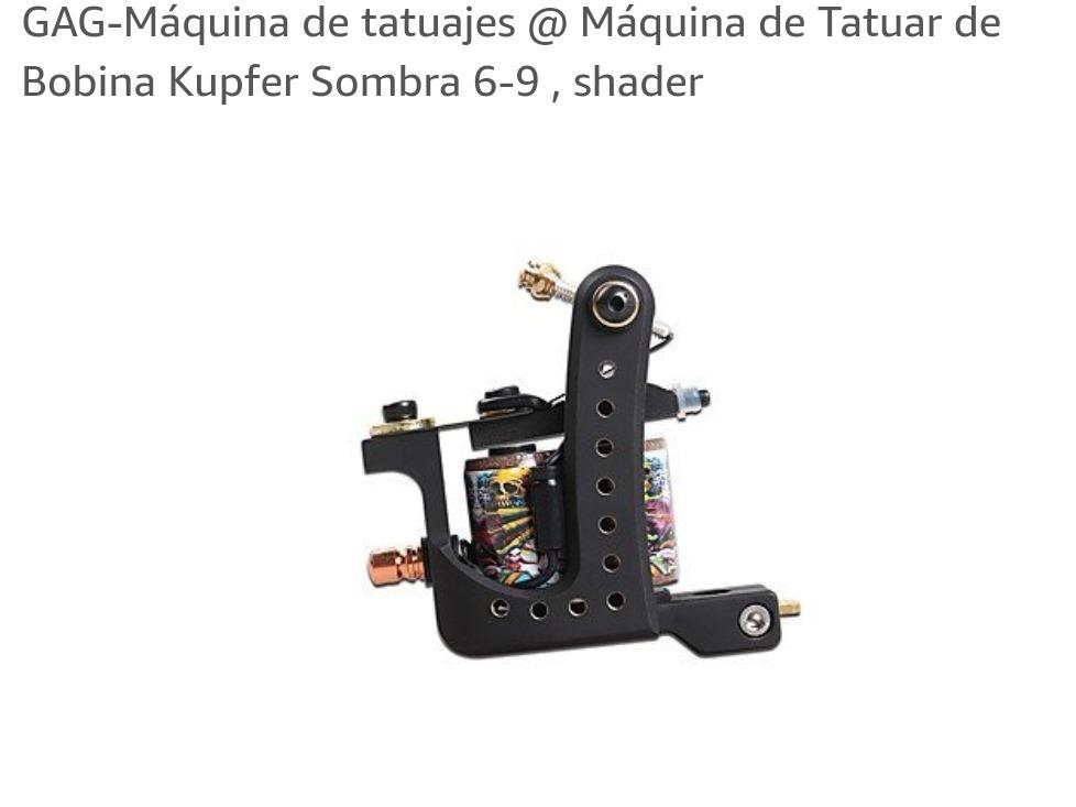 586221bb2668a Maquina Tattoo Gag Bobina Kupfer Linea Y Sombra 6-9 Linea -   7.790 ...