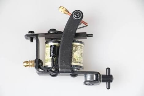 máquina tatuagem tattoo black dollar + clip cord de brinde
