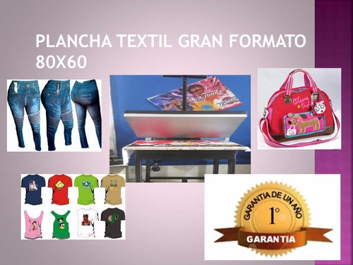 maquina textil 60x40 sublimación