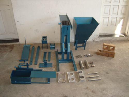 maquina tijolo ecologico solo cimento 12,5x25