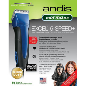 Máquina Tosa Prof. Andis Excel Azul 5 Vel. C/lâmina10 Bivolt