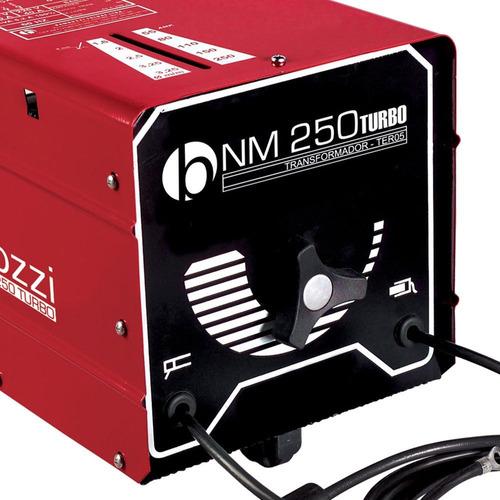 máquina transformadora de solda 250a turbo bivolt-bambozzi-n