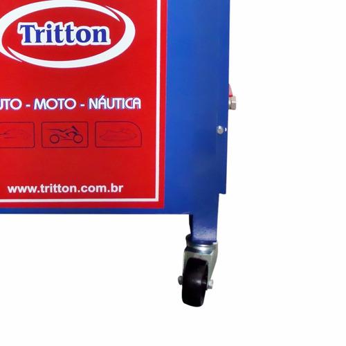 maquina troca de óleo a vácuo tritton 50 litros com rodas