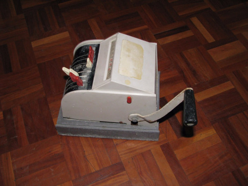 maquina troqueladora de cheques speedrite vintage