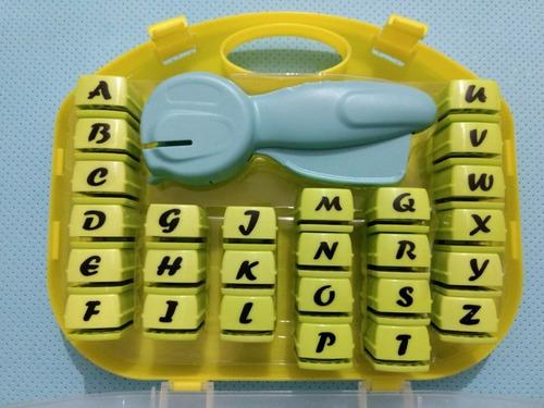 maquina troqueladora letras alfabeto abecedario sacabocados
