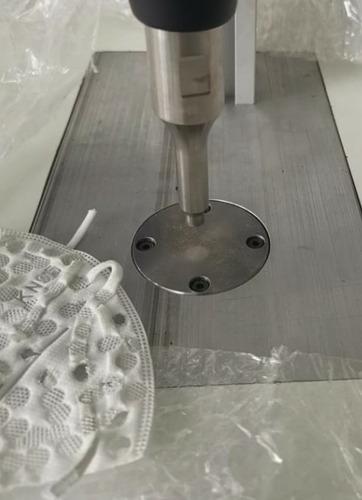 maquina ultrasonido sellado  elástico tapabocas , neumatica
