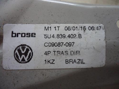 máquina vidro traseiro direito gol g5 original 5u4.839.402
