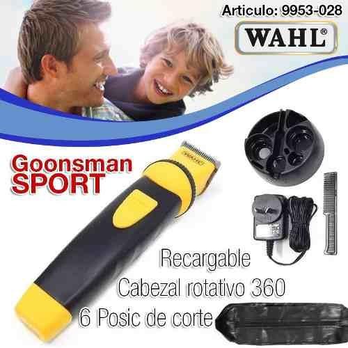 maquina wahl groomsman pro sport recargable patillera barba