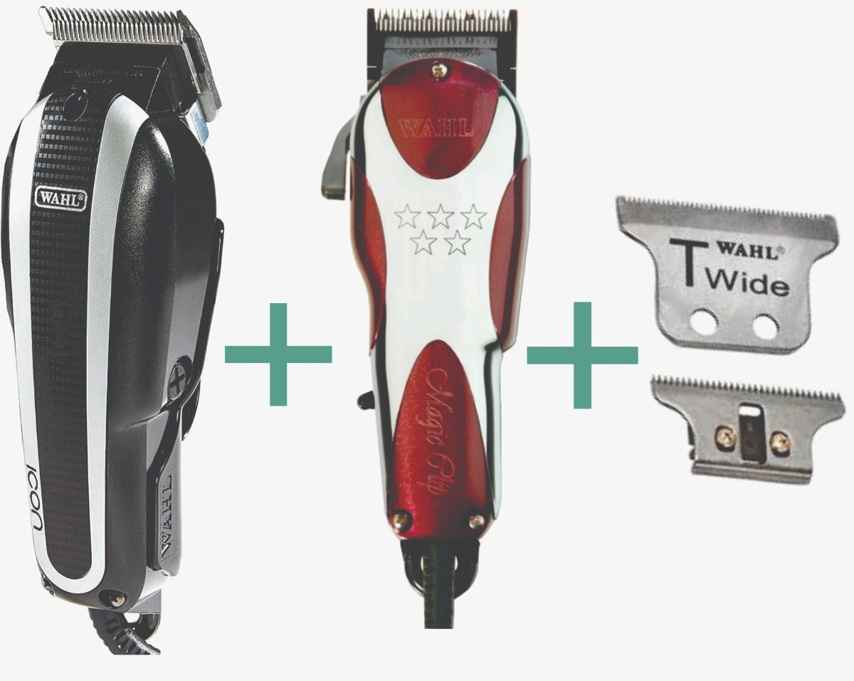 cd7ad19ec Máquina Wahl Icon 220v + Magic Clip 220v + Lâmina T Wide - R$ 1.299 ...