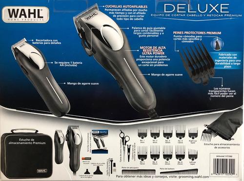 maquina wahl para cortar cabello kit 22 piezas deluxe oferta