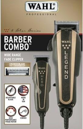 maquina wahl super combo barber legend+ hero made un usa
