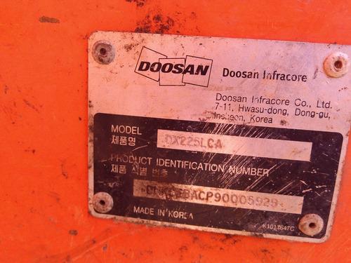 maquinaria de construção escavadeiras doosan dx 225 lca