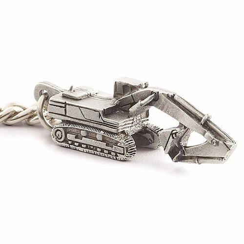 maquinaria excavadora caterpillar llavero metalico logo cat