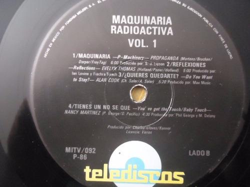maquinaria radioactiva vol 1 / varios artistas lp acetato