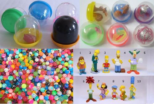 maquinas chicleras capsulas con premios y pelotas saltarinas
