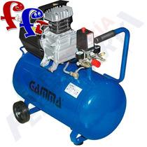 Compresor 50 Litros Gamma 2 Hp + Juego De Acoples G2802
