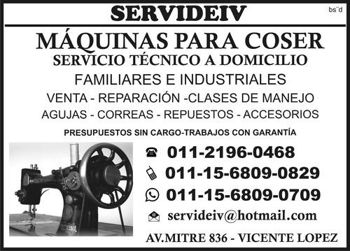 maquinas coser servicio tecnico