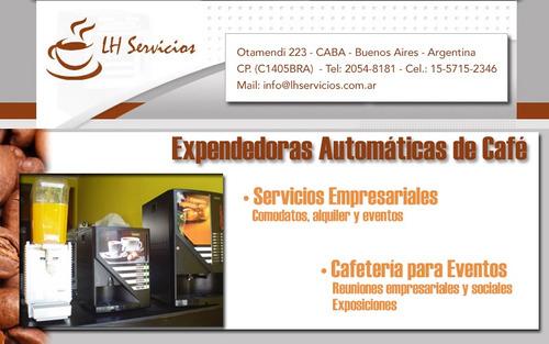 máquinas de café, línea nescafé, nespresso y eventos- jugos