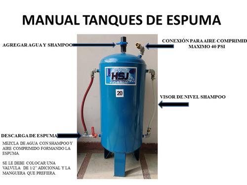 maquinas de espuma para autolavados de 80 lts 160 lts y 300