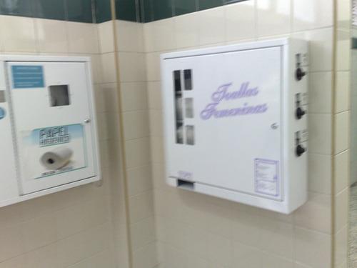 maquinas expendedoras de papel higiénico y toallas femeninas
