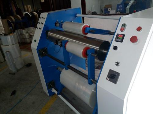maquinas rebobinadoras de strech film y vinipiel semiautomat