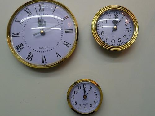maquinas relojes insertos 6,5 artesania, souvenirs por 10