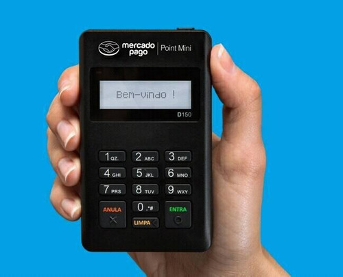 maquininha de cartão point-mini moderninha + cartão grátis