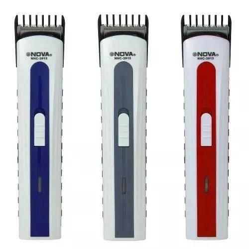 Maquininha De Cortar Cabelo Barba Pelos Marca Nova Nhc - R  32 34a9bec0f214