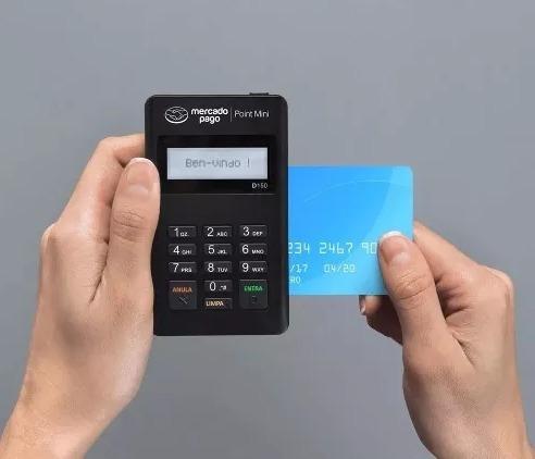 maquininha point mini - leitor de cartões do mercado pago