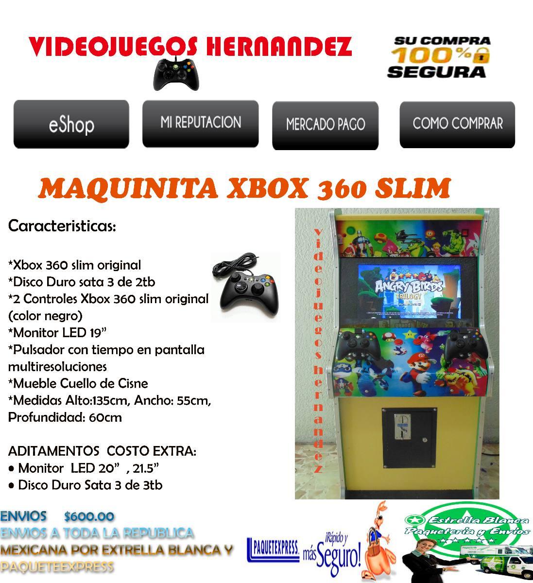 Maquinita xbox 360 slim pony nueva 10 en for Mueble para xbox 360