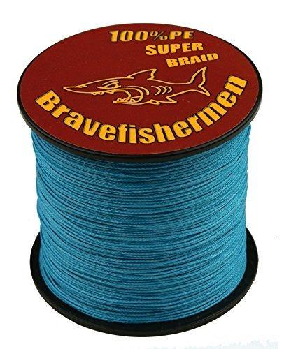 mar azul fuerte pe trenzado de pesca de línea de 10 lb to100