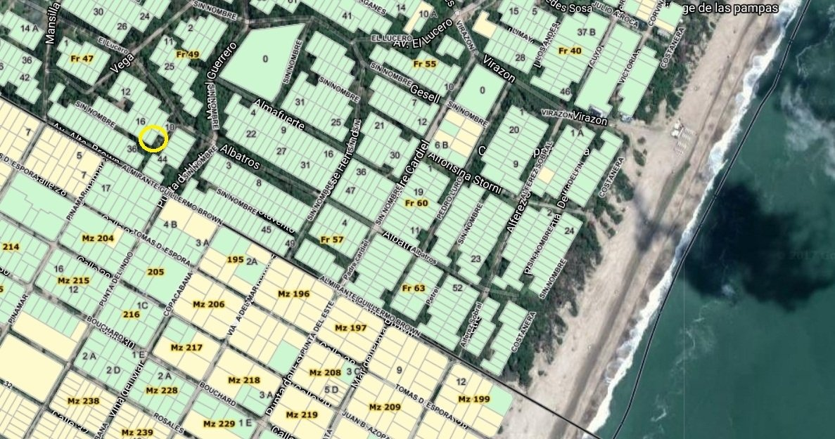 mar de las pampas lote residencial unifamiliar a cinco cuadr